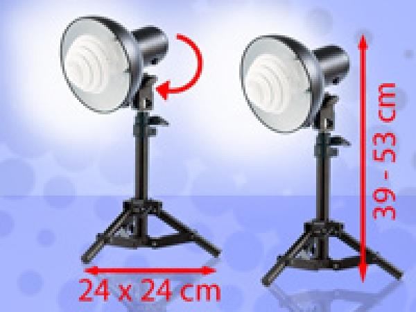 Stativ fotolampen mit tageslichtleuchte 5400k 2er set for Foto lampen