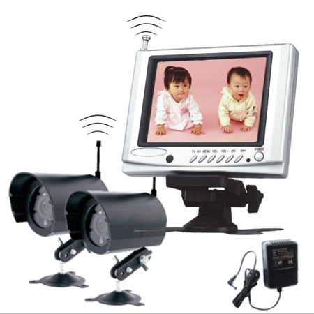 wireless baby monitor mit tft monitor und 2 kameras auto media. Black Bedroom Furniture Sets. Home Design Ideas